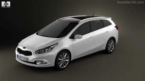 Kia Ceed SW 2013 by 3D model store Humster3D