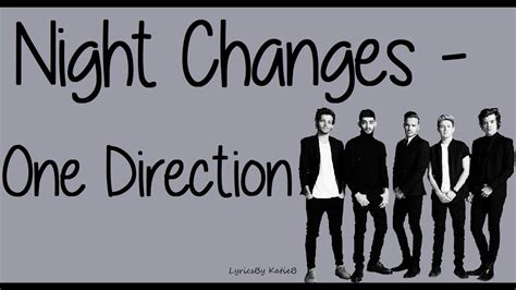 Night Changes (With Lyrics) - One Direction - YouTube