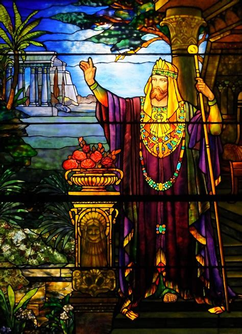 Stained Glass - King Solomon - Tiffany Studios - c